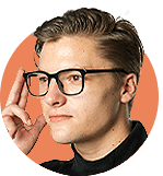 man wearing AR glasses