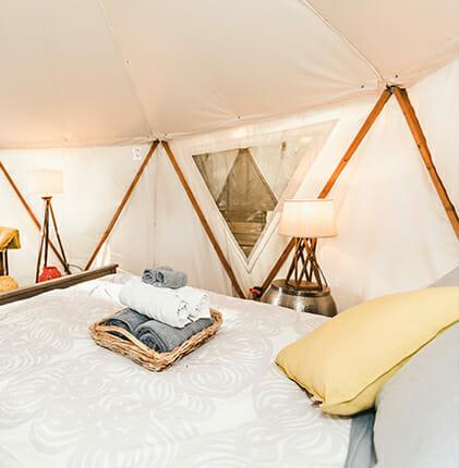 Reverie Retreat yurt interior